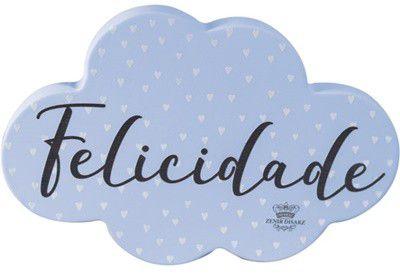 Enfeite de Mesa nuvem AZUL - Felicidade