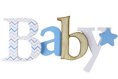 Palavra para parede AZUL - Baby