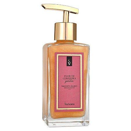 Sabonete Liquido Via Aroma 250ml- Flor de Cerejeira