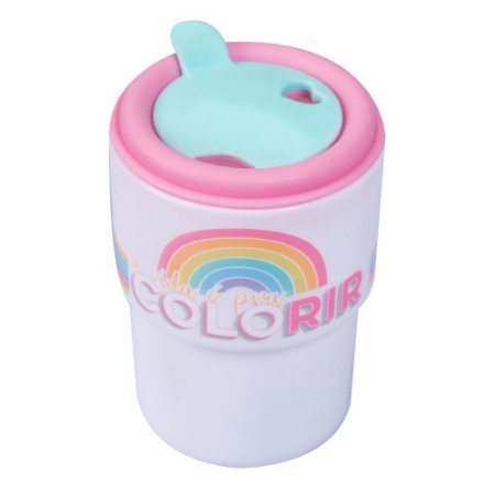 Copo plastico - A vida é para colorir