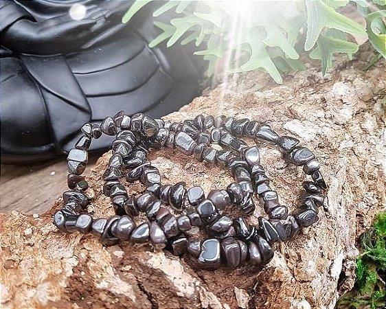 Pulseira de Pedras cascalho - Hematita