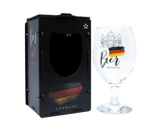 Taça Oro para Cerveja 400ml com caixa MDF - Alemanha