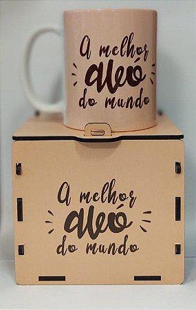Caneca Cerâmica com caixa MDF - A melhor avó do mundo