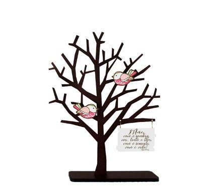 Enfeite de Mesa Árvore - Mãe você é sombra....
