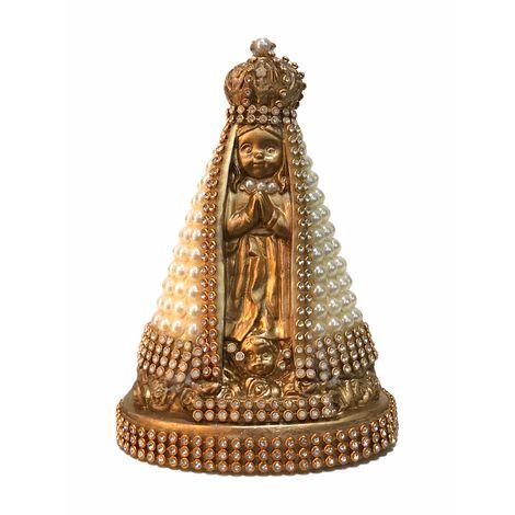 Nossa Senhora Baby com pérolas - Dourada