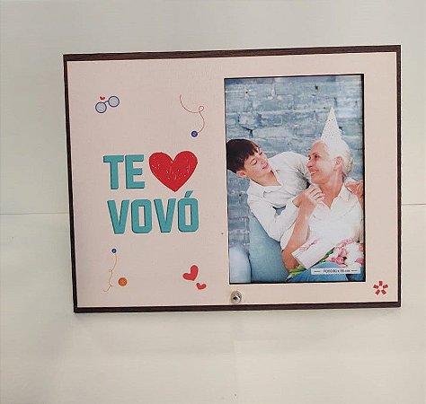 Porta retrato MDF 10x15- te amo Vovó