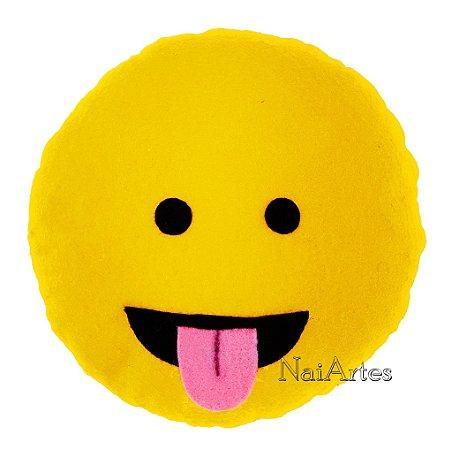Almofada Emoticon Emoji Watsapp Mostrando a Língua