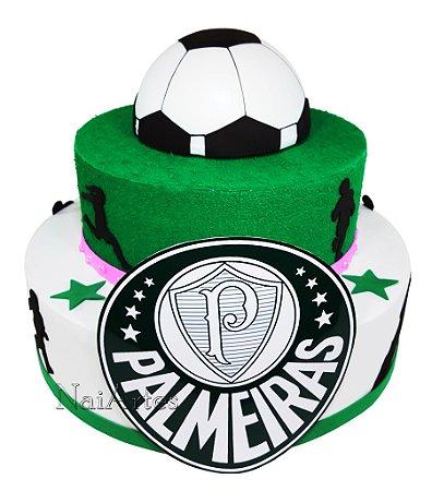 Time Futebol Palmeiras Menina - Bolo Fake