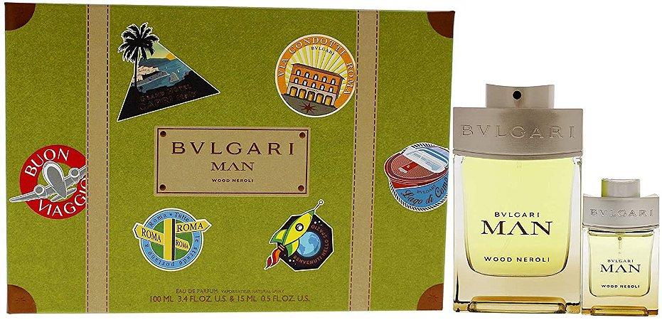 Kit Bvlgari Man Wood Neroli Eau de Parfum 100ml + Travel Size15ml Masculino