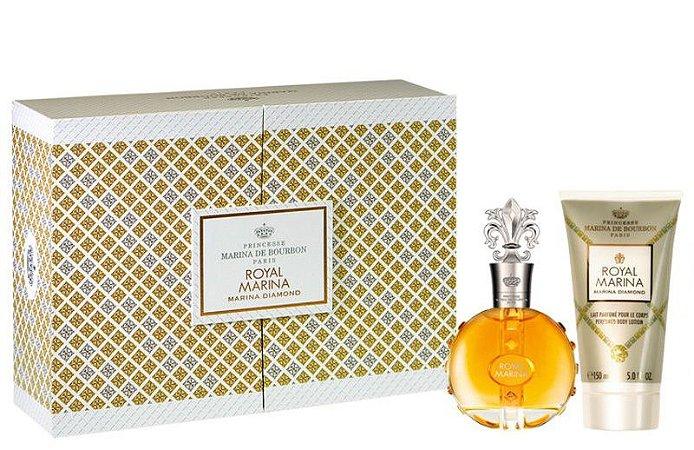 kit Royal Marina Diamond Eau de Parfum 100ml + Loção Corporal 150ml - Feminino