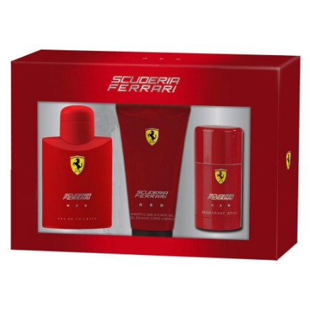 Kit Ferrari Red EDT 125ml + Desodorant Stick 75ml + Gel Banho 150ml - Masculino