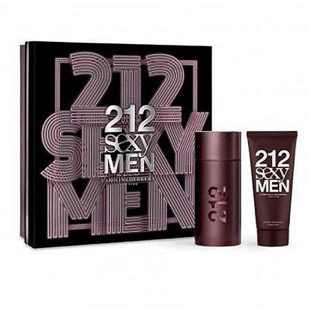 Kit 212 Sexy Men EDT 100ml + After Shave Balm 100Ml Masculino Carolina Herrera 100 ml