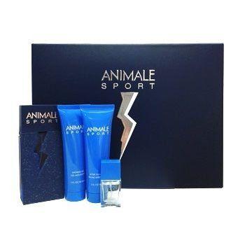 Kit Perfume Animale Sport Eau de Toilette Masculino 100ml + Miniatura 7,5ml + Bálsamo Pós Barba 90ml + Gel de Banho 90ml