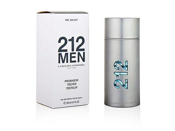 Tester 212 Men Eau de Toilette Carolina Herrera 100ml - Perfume Masculino