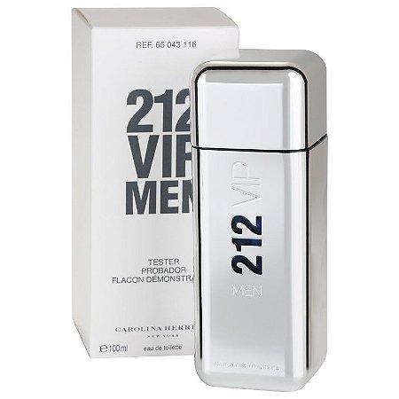 767d8eff2 Tester 212 Vip Men Eau de Toilette Carolina Herrera - Perfume Masculino -  100ML