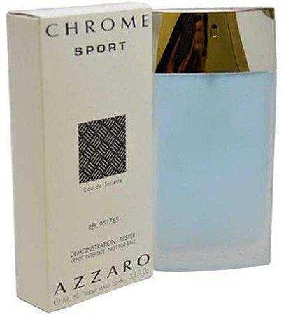 Tester Azzaro Chrome Sport Eau de Toilette 100ml - Perfume Masculino