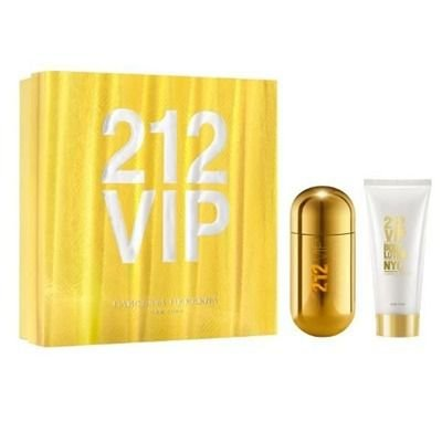 Kit 212 Vip Feminino EDP 80 ml + Body Lotion 100 ml - Carolina Herrera