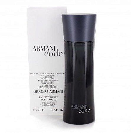 552fb226226 Tester Armani Code Eau de Toilette Giorgio Armani 75ML - Perfume Masculino