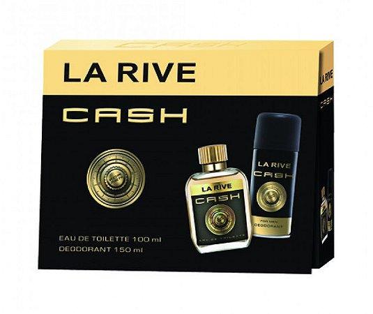 Kit Cash Eau de Toilette La Rive- Perfume Masculino 100 ML + Desodorante 150 ML