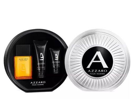 Kit Azzaro Pour Homme Eau de Toilette 100ML + Gel de Banho 100ML + Pós Barba 50ML