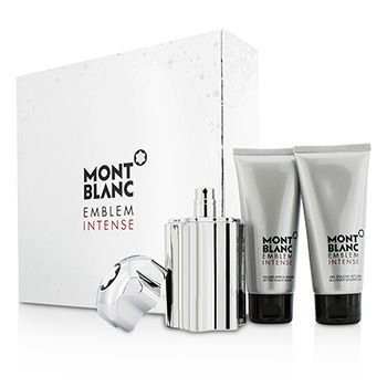 Kit Mont Blanc Emblem Intense  Eau de Toilette - Perfume + Pós Barba + Gel de Banho