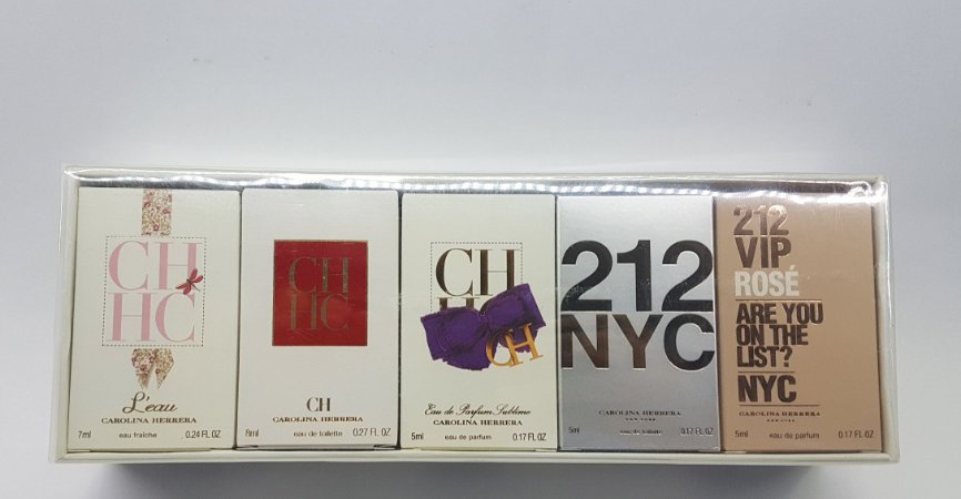 Kit Miniaturas 05 Unidades CH Perfume Carolina Herrera