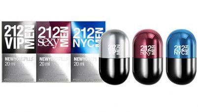 Kit 212 New York Pills Eau de Toilette Carolina Herrera - 3x20ML - Perfumes Masculinos