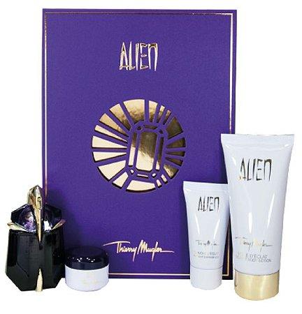 Kit Alien Eau de Parfum Thierry mugler - 30ML + 100ML Body Lotion +  30ML Shower Gel +15ML Body Cream - Perfume Feminino