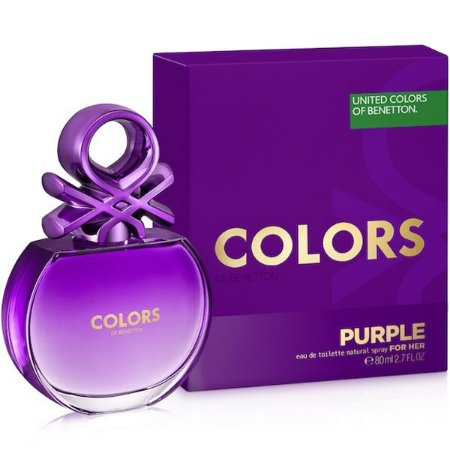 Colors Purple Eau de Toilette Benetton 80ml - Perfume Feminino