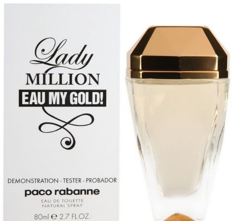 Tester Lady Million Eau my Gold EDT Paco Rabanne 80ML - Perfume Feminino