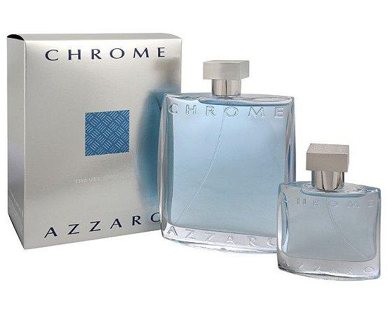 Kit Azzaro Chrome Travel Exclusive Eau de Toilette 200ml + Miniatura 30ml - Masculino
