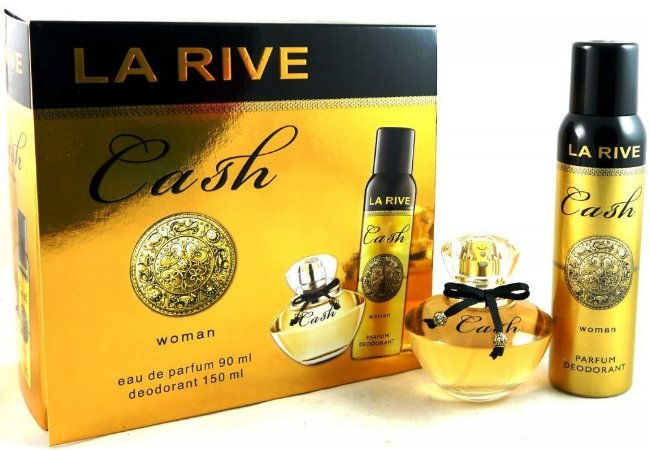 Kit La Rive Cash Woman Eau de Parfum 90 ML + Desodorante 150ML