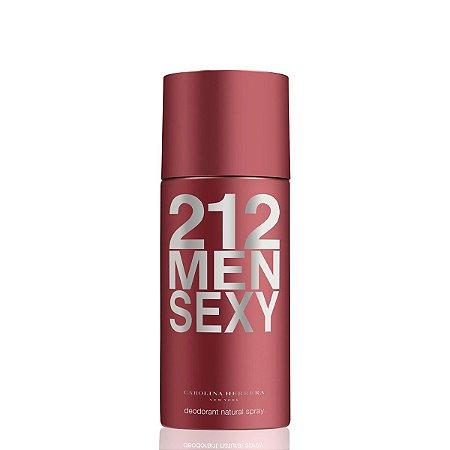 Desodorante 212 Sexy Men 150ml Carolina Herrera - Spray Masculino