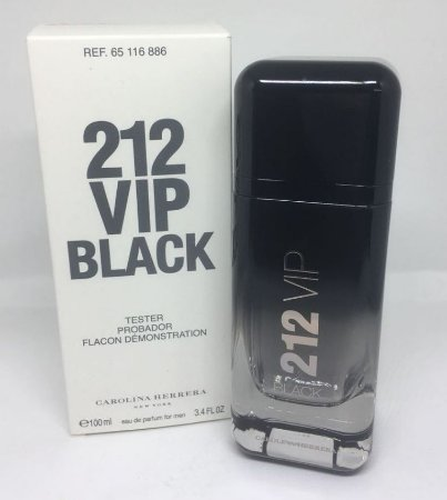 f0c92479be Tester 212 VIP Black EDP Carolina Herrera 100ML - Perfume Masculino