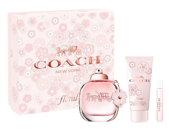 Kit Coach New York Floral Eau de Parfum 90ml + Loção Corporal 100ml + Miniatura 7,5ml