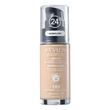Base Revlon ColorStay Pele Normal e Seca Cor 180 Sand Beige / Beige Sablé 30ml - Base Líquida FPS 20