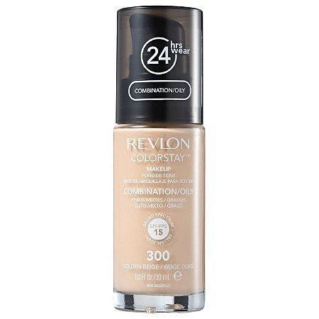 Base Revlon ColorStay Pele Mista e Oleosa Cor 300 Golden Beige / Beige Doré 30ml - Base Líquida FPS 15
