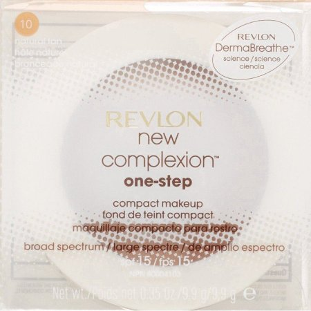 Base Compacta Revlon New Complexion One-Step Compact Makeup Natural Tan - 9,9g 2 em 1