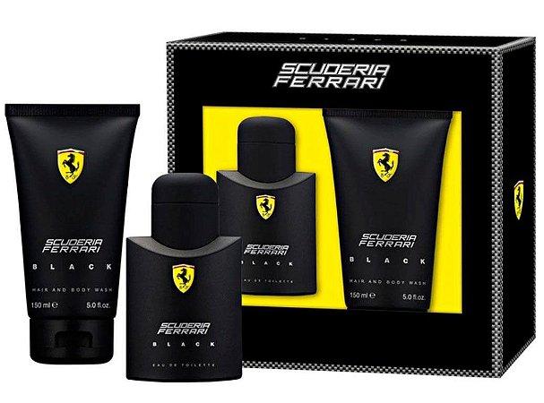 Kit Ferrari Black Eau De Toilette Ferrari 75ml + Shower Gel 150ml - Masculino