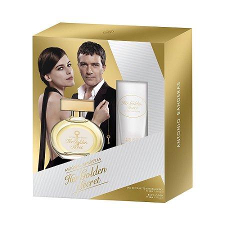 Kit Her Golden Secret Eau de Toilette Antonio Banderas 80ML + Desodorante 150ML - Feminino
