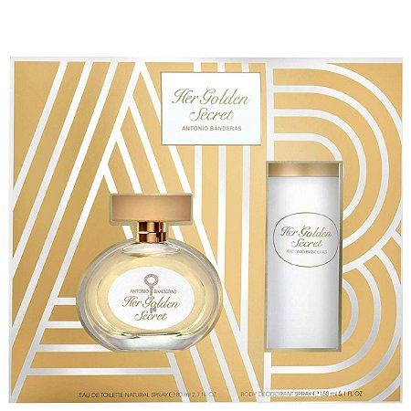 Kit Her Golden Secret Antonio Banderas Eau de Toilette 80ml + Desodorante 150ml - Feminino
