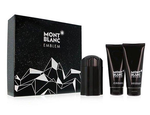 Kit Emblem Eau de Toilette Montblanc 100ML + Gel de Banho 100ML  + Pós-Barba 100ML - Masculino
