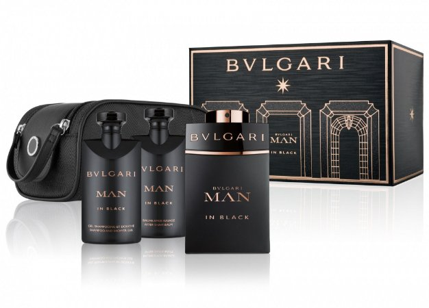 a39319b16f948 Kit BVLGARI Man in Black Eau de Parfum BVLGARI - Perfume Masculino 100 ML +  Gel