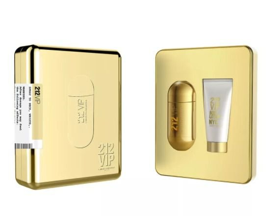 Kit 212 Vip Eau de Parfum Carolina Herrera 80ML + Body Lotion 100ML - Feminino