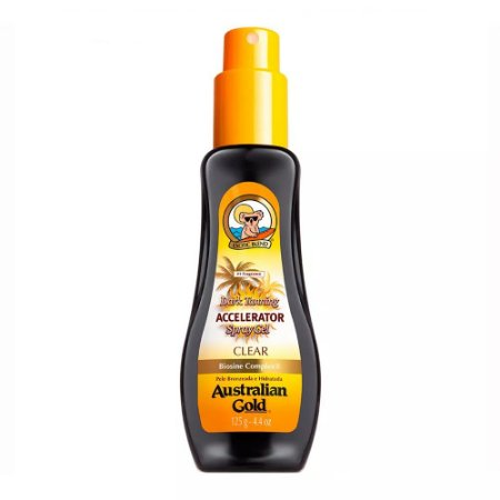 Bronzeador Australian Gold Accelerator Dark Tanning Spray Gel Clear 125g
