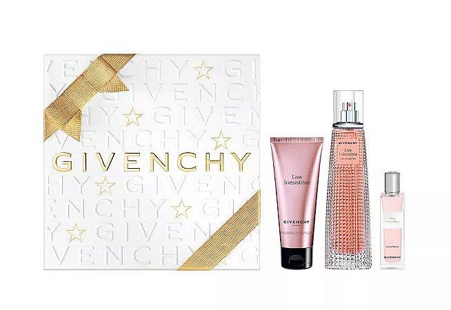 Kit Live Irrésistible Givenchy Eau de Parfum 75ml + Miniatura 15ml + Body Cream 75ml - Feminino
