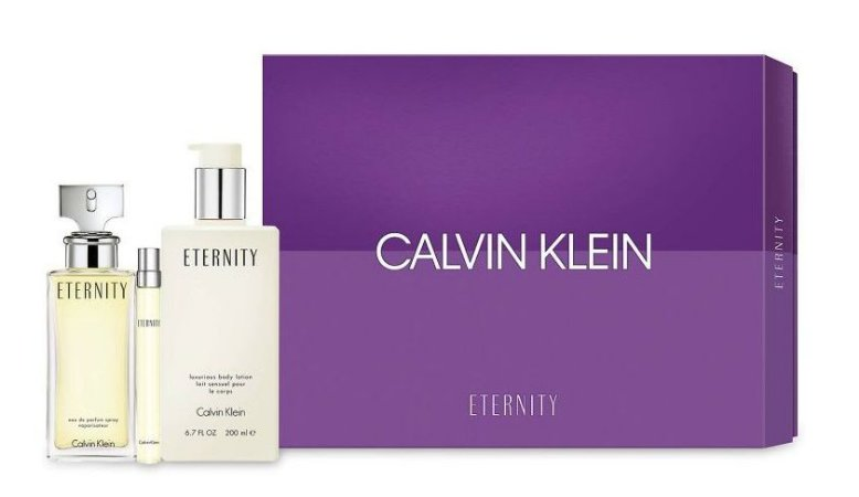 Kit Eternity Calvin Klein Eau de Parfum 100ML + Body Lotion 100ML + Miniatura 10ML - Feminino