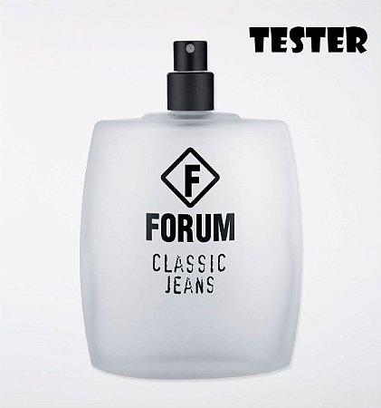 Tester Forum Classic Jeans Deo Colônia 100ml - Perfume Masculino