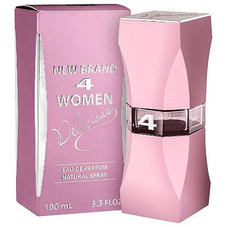 4 Women Delicious Eau de Parfum New Brand 100ml - Perfume Feminino