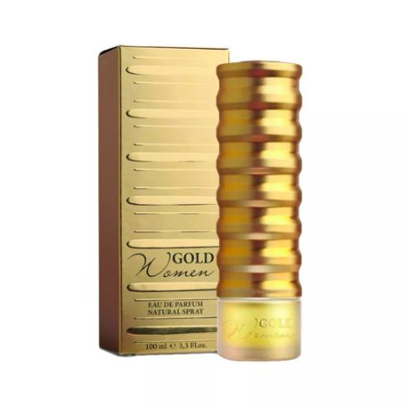 Gold Women Eau de Parfum New Brand 100ml - Perfume Feminino